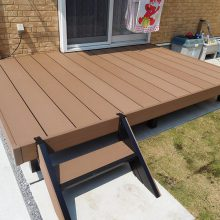 物置とウッドデッキでお庭をグレードアップ NO.652の施工写真3