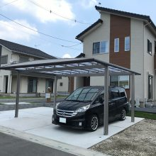 駐車場と物置を設置 NO.654の施工写真2