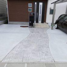 門まわりと駐車場工事 NO.659の施工写真2