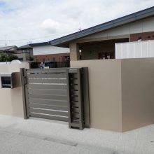 白い門塀がポイント NO.660の施工写真0