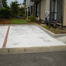 庭石などと取り除き駐車場に NO.664の施工写真3