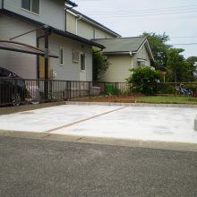 庭石などと取り除き駐車場に NO.664の施工写真