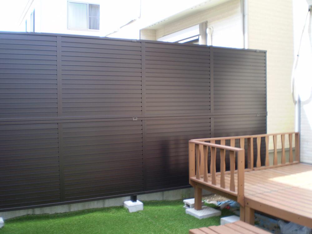 目隠しフェンスの使い分け NO.670の施工写真1