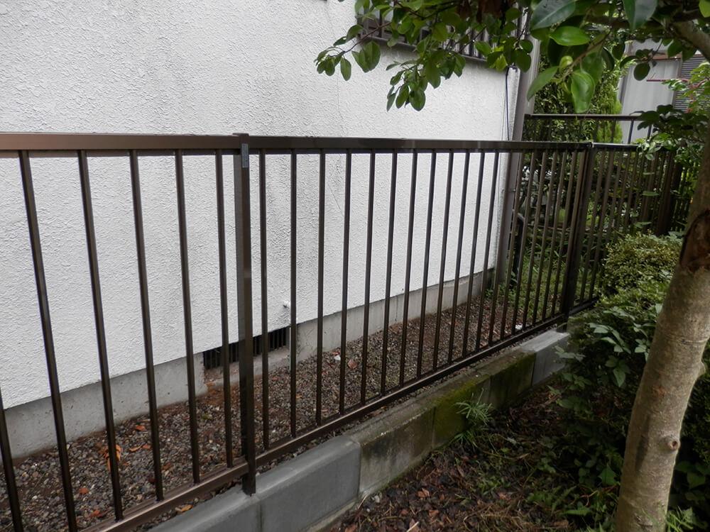 フェンス交換工事 NO.672の施工写真2
