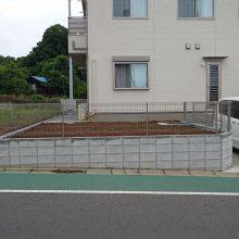境界ブロックとフェンス工事 NO.655の施工写真