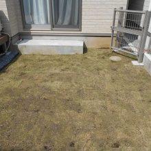 ウッドデッキと天然芝で雑草対策 NO.698の施工写真2