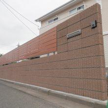 塀工事と目隠しフェンスを施工 NO.679の施工写真