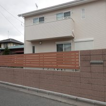 塀工事と目隠しフェンスを施工 NO.679の施工写真1