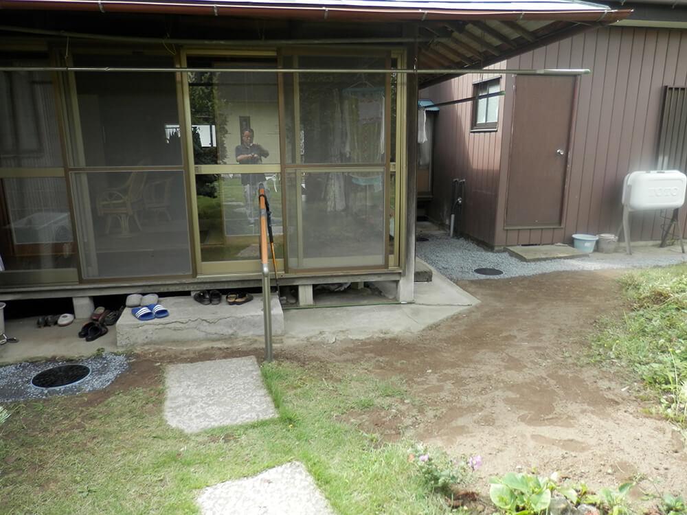 庭の水溜まりを雨水枡で解決 NO.678の施工写真0