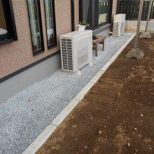 土間と機能門柱でオープン外構 NO.711の施工写真1