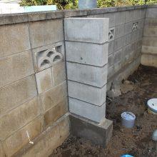 控えブロックを施工 NO.721の施工写真