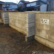 控えブロックを施工 NO.721の施工写真1