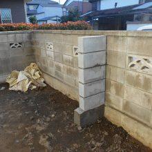 控えブロックを施工 NO.721の施工写真2