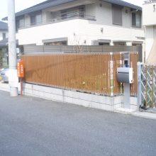 目隠し多段フェンスを設置 NO.710の施工写真0