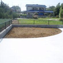 雑草対策は土間と砕石 NO.715の施工写真2