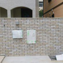 門まわりをレンガ調で高級感 NO.728の施工写真1