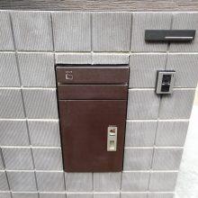 宅配BOXを門塀に NO.730の施工写真