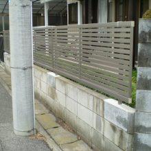 目隠しフェンス交換工事 NO.732の施工写真0