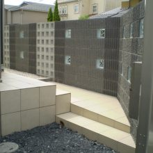 門塀はブロックの種類を変えて…NO.729の施工写真0
