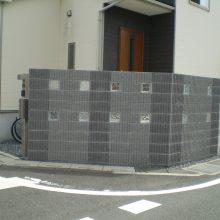 門塀はブロックの種類を変えて…NO.729の施工写真