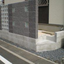 門塀はブロックの種類を変えて…NO.729の施工写真1