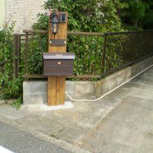 ナチュラルテイスト門柱がお出迎え NO.734の施工写真