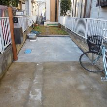 駐車場の土間拡大 NO.784の施工写真2