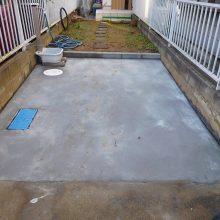 駐車場の土間拡大 NO.784の施工写真1