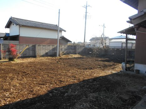 植栽を伐採伐根 NO.781の施工後写真1