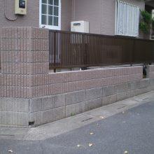 立木伐根工事から目隠しフェンス NO.768の施工写真1