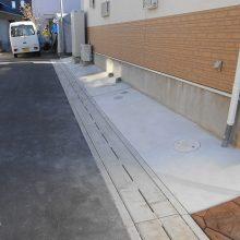 渋い色のスタンプコンクリート NO.791の施工写真1