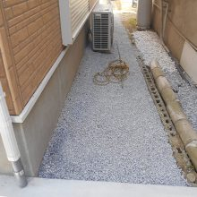 渋い色のスタンプコンクリート NO.791の施工写真2