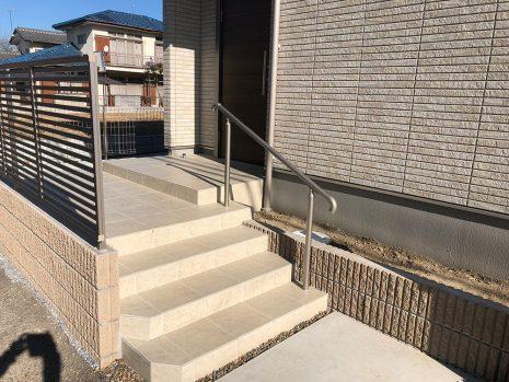 木目調の機能門柱 NO.792の施工前写真2