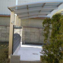 目隠しフェンスとサイクルポート NO.788の施工写真1