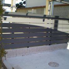 目隠しフェンスとサイクルポート NO.788の施工写真