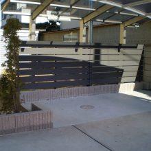 目隠しフェンスとサイクルポート NO.788の施工写真0