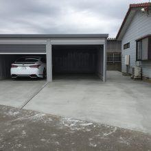 車2台分のガレージ NO.815の施工写真2