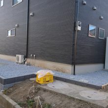 駐車場にサイクルポート NO.818の施工写真2