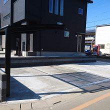 駐車場にサイクルポート NO.818の施工写真