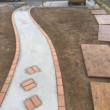 曲線のアプローチ NO.829の施工写真0