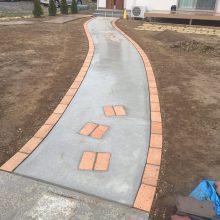曲線のアプローチ NO.829の施工写真2