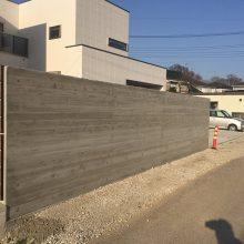 杉板風RC擁壁と木調フエンス NO.837の施工写真0