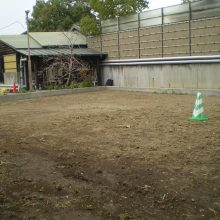 土留めして整地いたしました。NO.830の施工写真1
