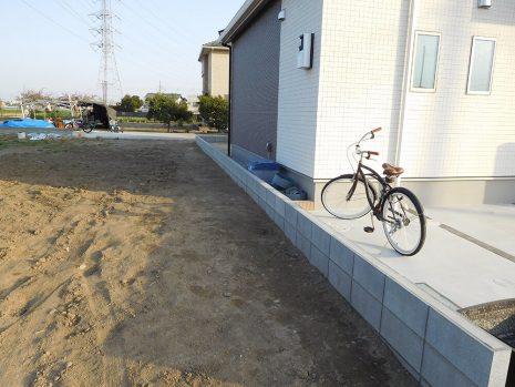 オープン外構の中の門袖 NO.838の施工前写真2