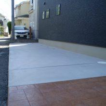 シンプルな中にスタンプコンクリート NO.855の施工写真0