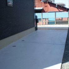 シンプルな中にスタンプコンクリート NO.855の施工写真1
