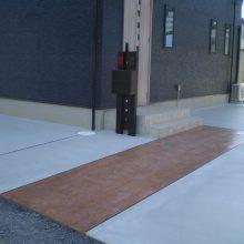 シンプルな中にスタンプコンクリート NO.855の施工写真
