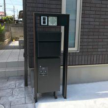 宅配BOX付き機能門柱 NO.868の施工写真