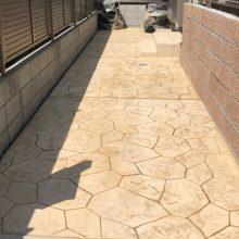 糞被害にスタンプコンクリート NO.865の施工写真0