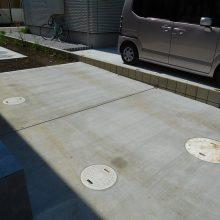 渋い石貼りアプローチ NO.881の施工写真1
